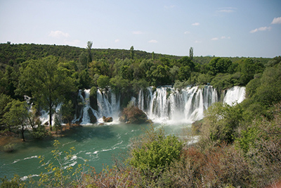 Kravice tufa waterfall on Trebižat river